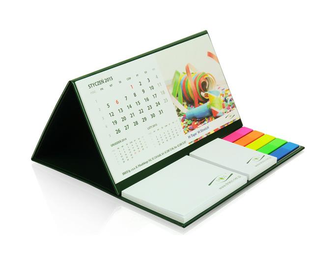 Praktische Tischkalender mit Logo bedrucken - Kicks Werbeartikel
