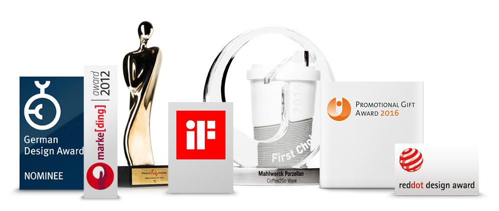 Designpreise und Awards für unsere Werbeartikel, ausgezeichnet!