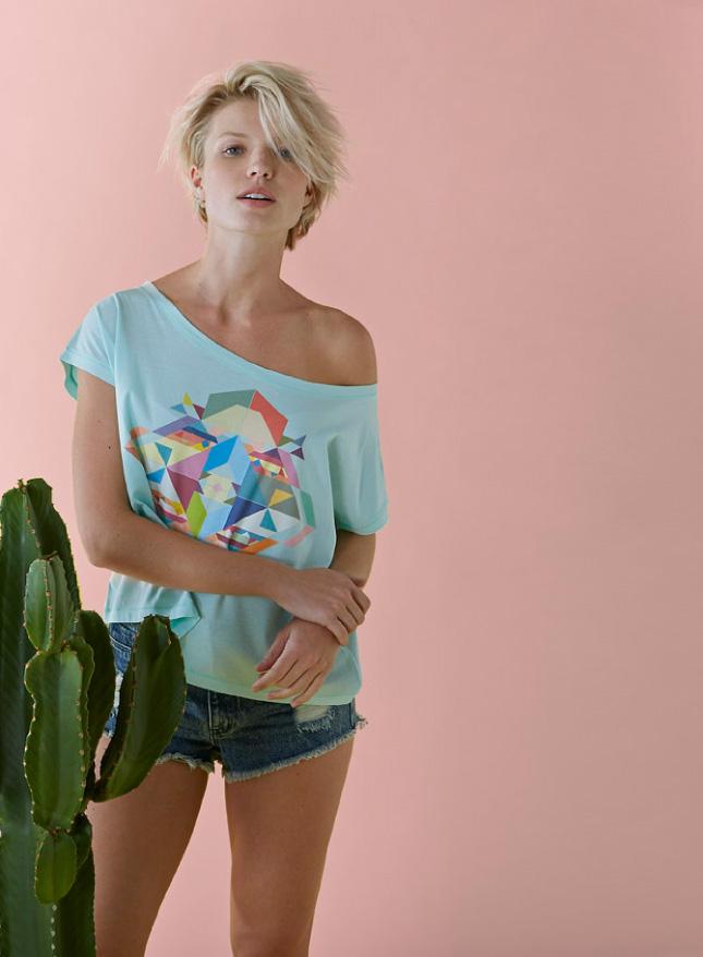 Farbig bedrucktes Fashion Shirt der Marke Stanley & Stella