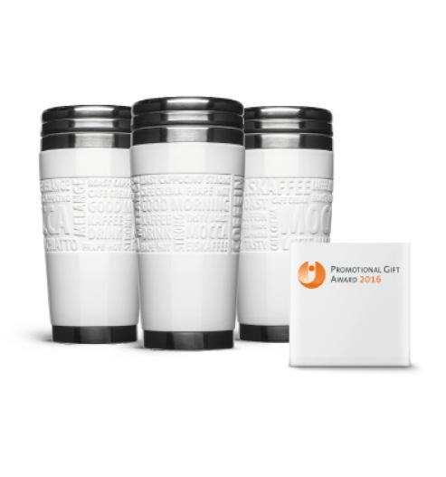 """Ausgezeichnet: Der Coffee2Go Becher """"Steel Mug"""" gewinnt den Promotion Gift Award 2016"""