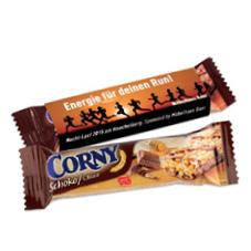 Nutzen Sie den Corny Schoko Müsliriegel bedruckt als Werbeartikel für Ihr Unternehmen