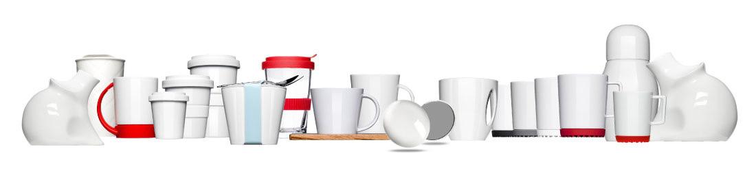 Tassen & Becher zum bedrucken von Mahlwerck Porzellan, Uniques als Werbeartikel