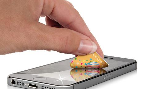 """Das Smartphone Bildschirm Putztuch """"Smart Kosi"""" von Polyclean, hier bedrucken und anfragen"""
