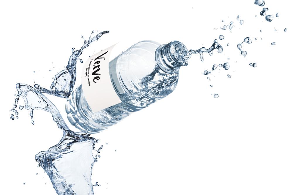 Die Verve Wasserflasche als Werbe-Getränk für Ihr Unternehmen. Splash