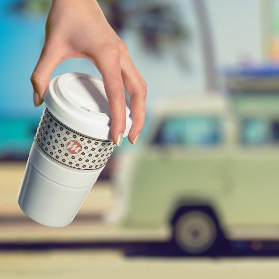 Coffee2go von Mahlwerck Porzellan, Becher und Tassen zum Bedrucken als Werbeartikel Visual