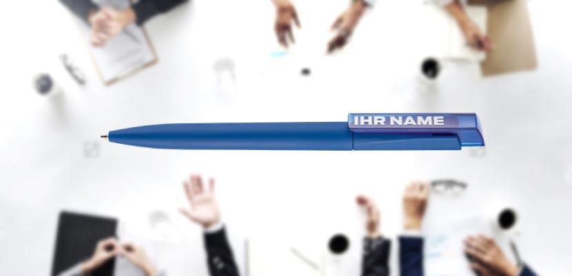 Kugelschreiber bedrucken mit Logo als Werbeartikel Visual